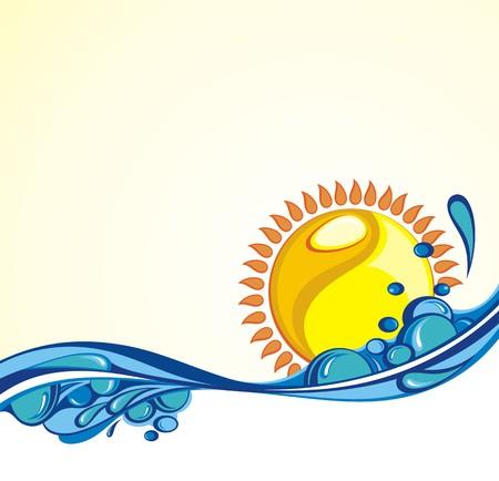 oceans: Summer vacation Illustration