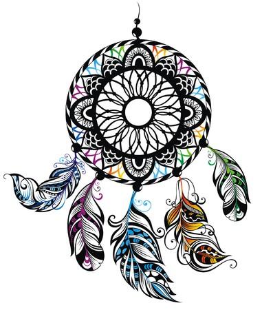 Lapač snů, ochrana, indiány Ilustrace