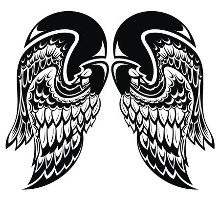 Angel wings Tattoo wings Vector