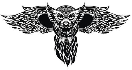 owl tattoo: Owl Illustration