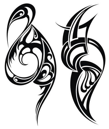 spiral: Tattoo ontwerp Stock Illustratie