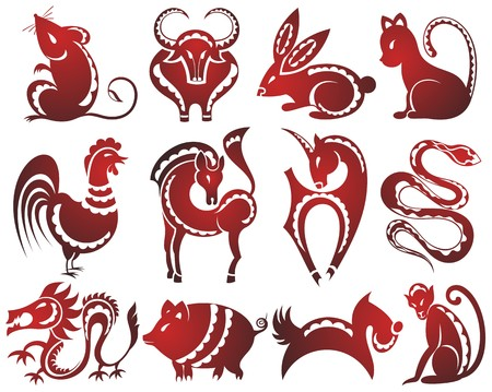 asian bunny: 12 Chinese zodiac signs
