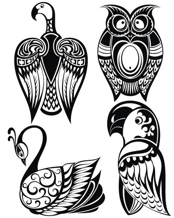 parrot tail: Birds icons
