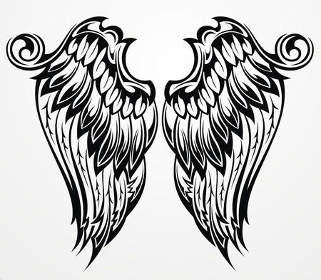 tatouage ange: ailes de tatouage