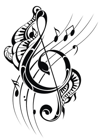 notes: Music note background