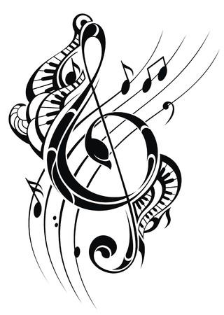 swirl backgrounds: Musica nota informativa