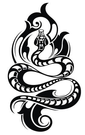 human arms: Snake Tattoo