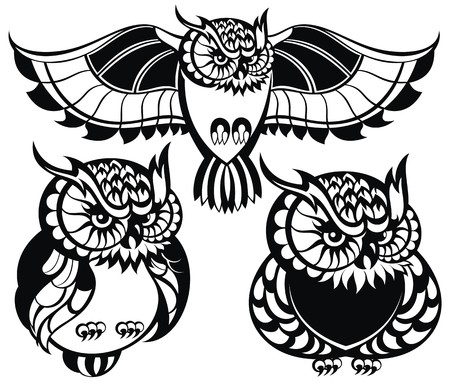 tattoo drawings: Owls