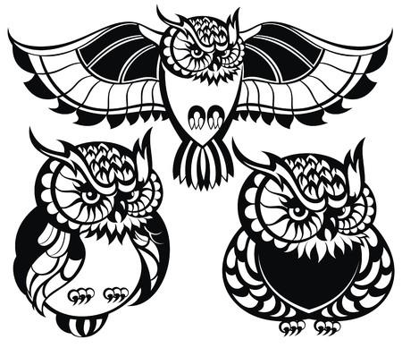 owl tattoo: Owls