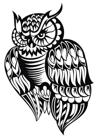 indigenous: Owl Illustration