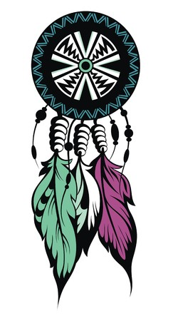 totem indien: Dream Catcher, protection, symbole Indiens d'Am�rique