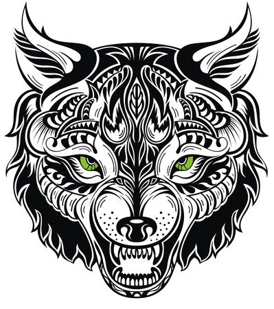 ethnic tattoo: Totem animal