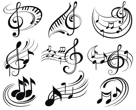music abstract: Music notes