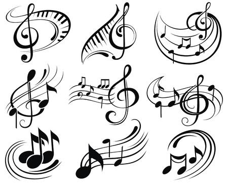 musical note: Note musicali Vettoriali