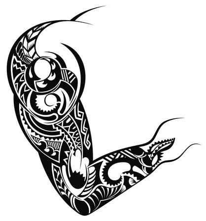maories: Dise�o del tatuaje de un hombro