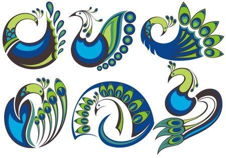 peacock pattern: Peacock birds