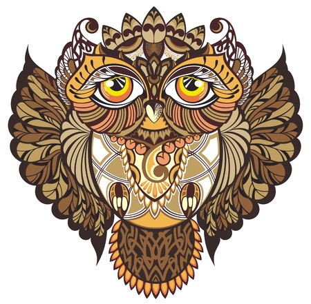eagle owl: Owl Illustration