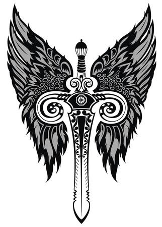 dagger tattoo: Sword