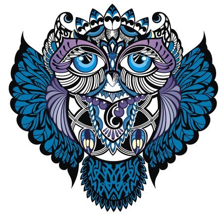 Oiseau Owl.Decorative Banque d'images - 48494975