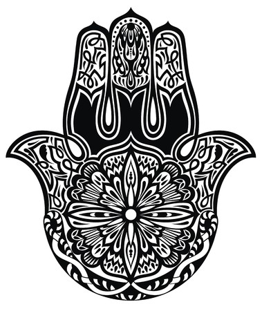esoterism: hamsa hand Illustration