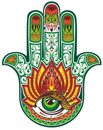 jesus hands: Hamsa hand