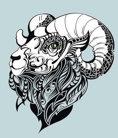 Vector Goat Stock Illustratie