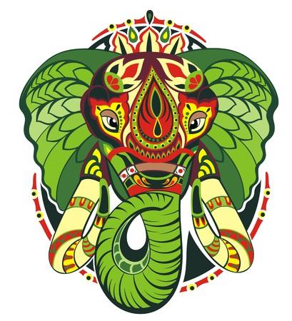Totem animal.Elephant Illustration