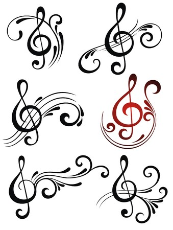 g clef: Music symbols Illustration