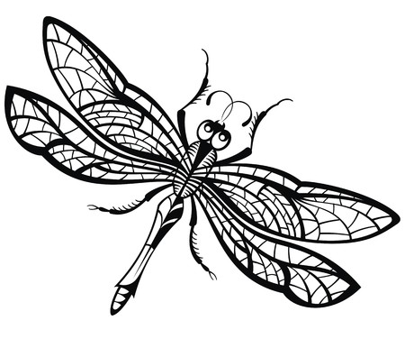 """Résultat de recherche d'images pour """"libellule dessin"""""""