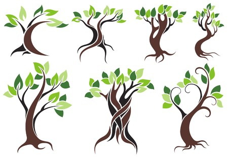 Stylized vector tree Stock Vector - 36746440