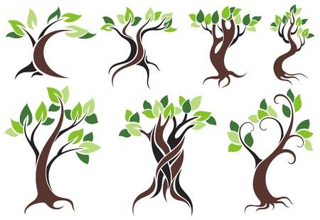 Vecteur arbre stylisé Banque d'images - 36746440