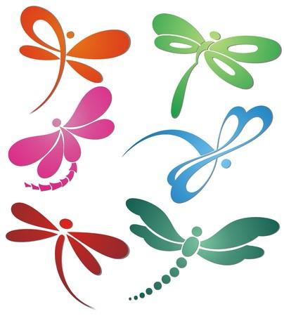 saludable logo: Mariposa (lib�lula) dise�o de logotipo