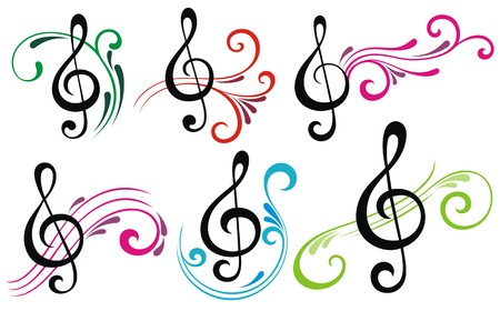 flowing: Music notes