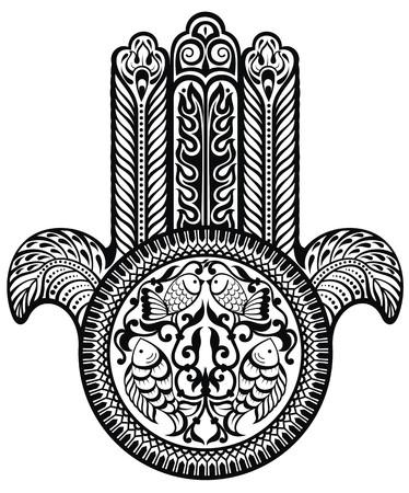 amulet: Jewish sacred amulet. Hamsa