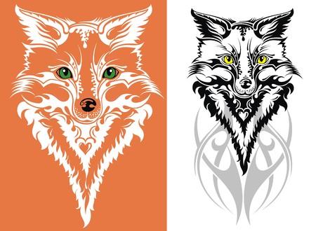 black fox: Vector image of an fox Illustration