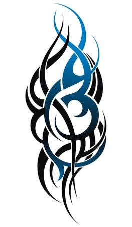 henna tattoo: Styled tattoo pattern Illustration