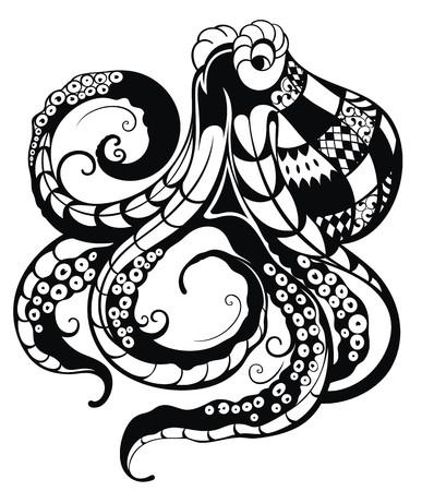 monster tattoo: Octopus