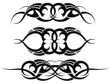 celtic symbol: Patterns of tribal tattoo set