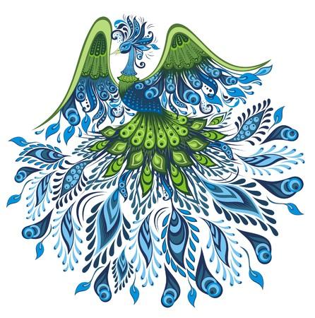 Vector illustratie van de pauw Stock Illustratie