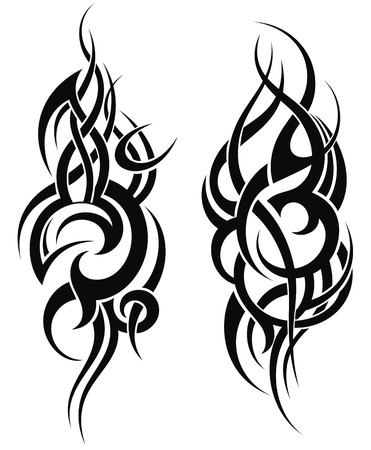 Maori styled tattoo pattern for a shoulder 일러스트