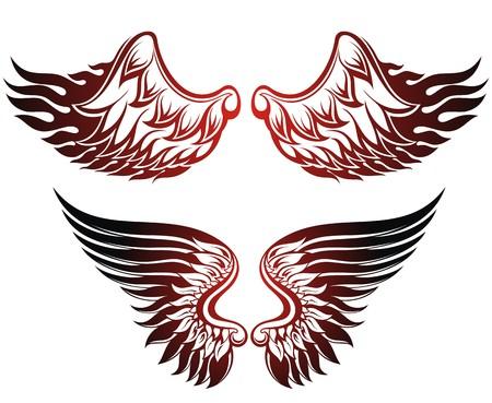engel tattoo: Fl�gel gesetzt