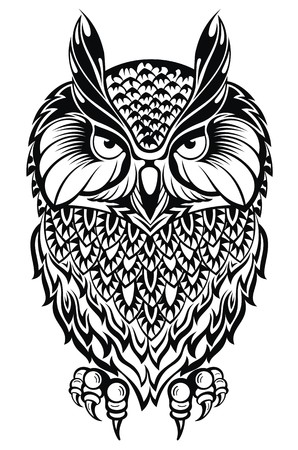 eagle owl: Owl.Tattoo owl