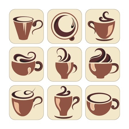coffee cup vector: Coffee cup vector