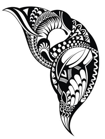 タトゥーのデザイン  イラスト・ベクター素材