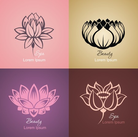 nail salon: Lotus symbols