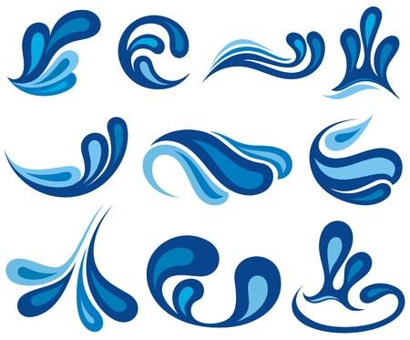 el agua: Gotas de agua Splash