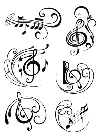 treble clef: Music notes