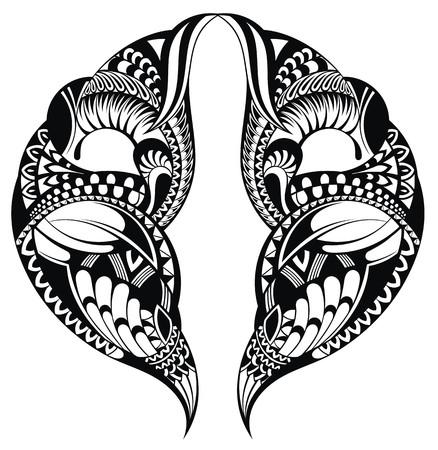 stroked: Tattoo pattern