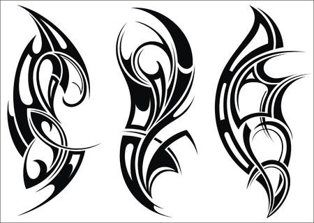 tribales: Maorí tatuaje patrón de estilo de un hombro