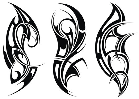 Maori styled tattoo pattern for a shoulder Vettoriali